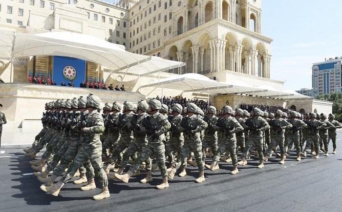 כוחות ביטחון באזרבייג'ן עם נשק ישראלי