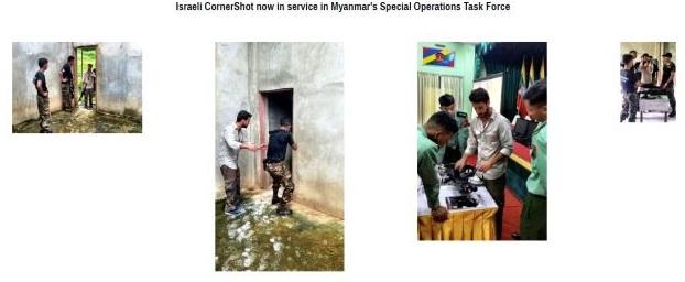 """בכותרת: """"CornerShot1 ישראלי עכשיו בשימוש כוחות המשימה המיוחדים של מיאנמר"""". תמונה מתוך אתר TAR Ideal Concepts"""