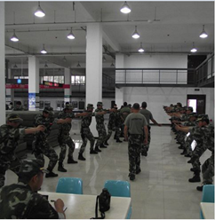 """אימון המשטרה החמושה הסינית ע""""י מג""""ב, מתוך אתר משטרת ישראל"""
