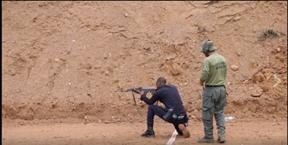 """מתוך סרטון של אימון כוחות ברואנדה ע""""י מג""""ב, מתוך עמוד הפייסבוק של משטרת ישראל"""