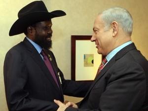 """בנימין נתניהו נפגש עם נשיא דרום סודן סאלווה קיר מאיארדיט. צילום ארכיון: אבי אוחיון, לע""""מ"""