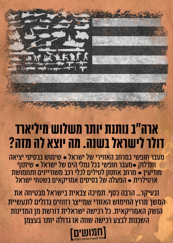 """ארה""""ב נותנת יותר משלוש מליארד דולר לישראל בשנה. מה יוצא לה מזה?"""